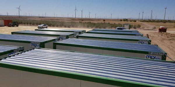 modulos prefabricados para campamento eolico